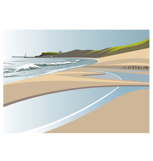 Sandsend Beach to Whitby (2) - (landscape)
