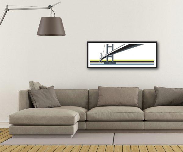Humber Bridge. North, towards Hull