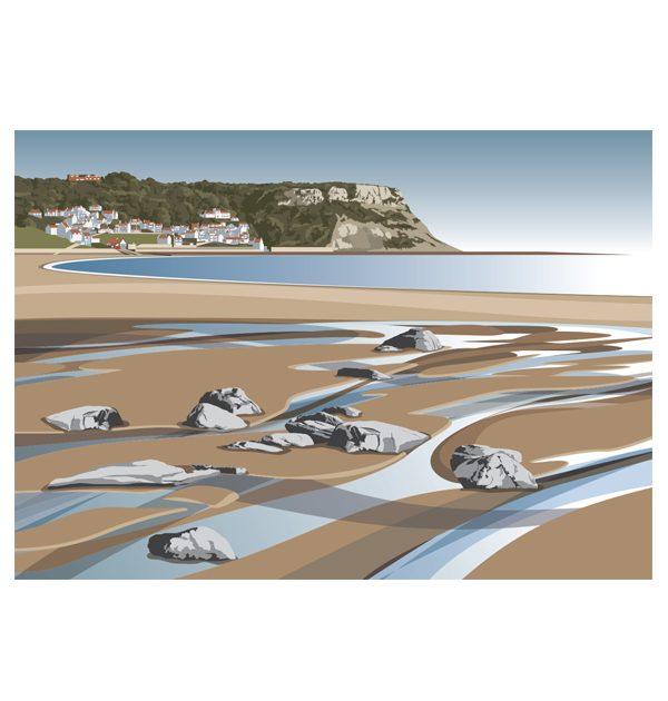 Runswick Bay - (landscape)