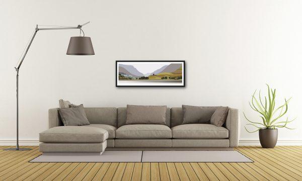 Panoramic - Llyn Padarn towards Llanberis Pass