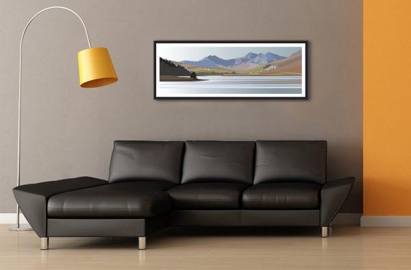 Panoramic - Llyn Mymbyr at Capel Curig