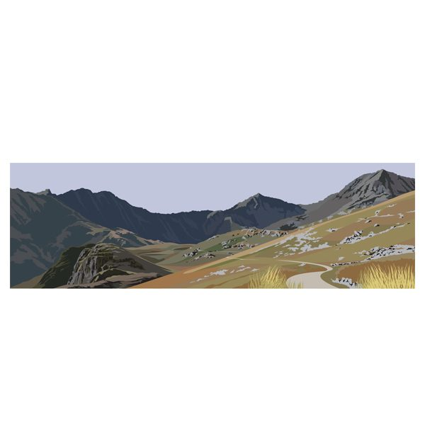 Panoramic - Snowdon from the Miners Track