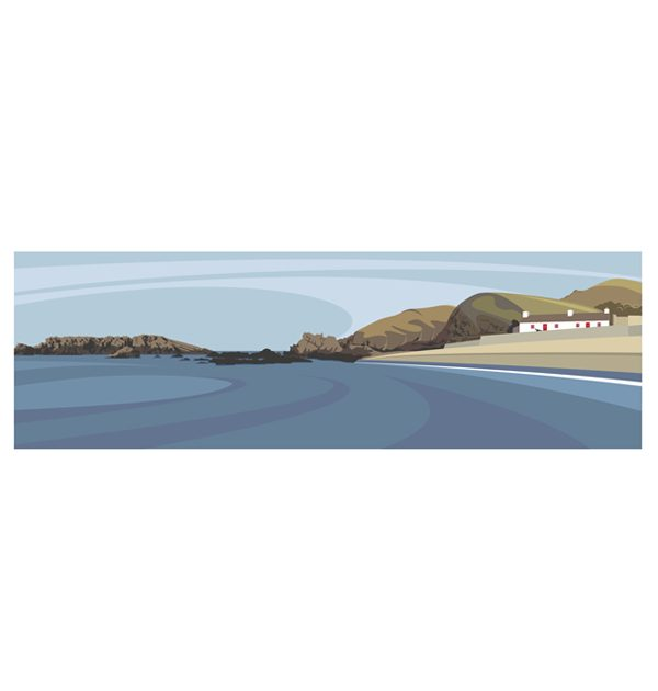 Panoramic - The Beach at Niarbyl Bay