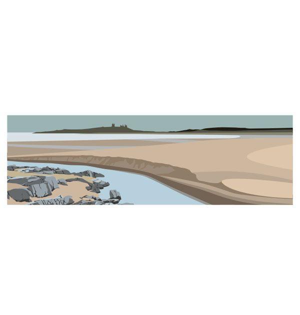 Towards Dunstanburgh - Panoramic