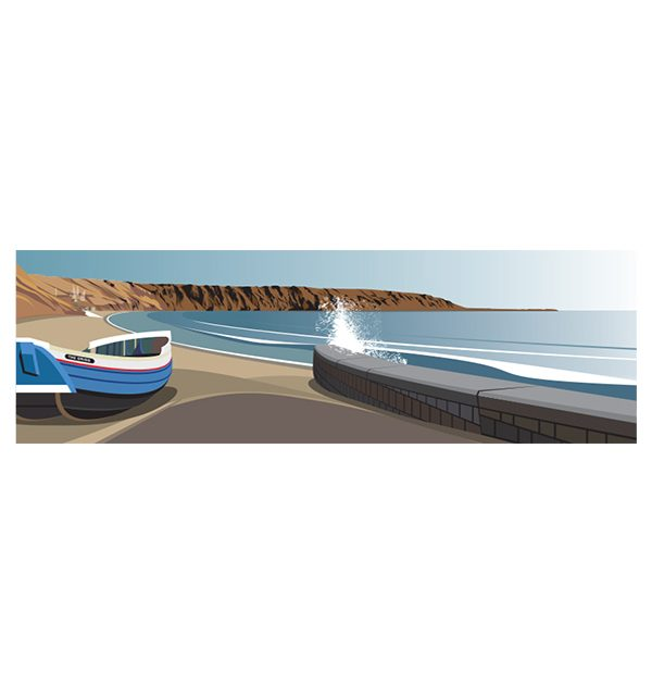 Filey, Coble Landing - Panoramic