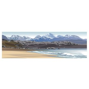 The Torridon Range from Gairloch - Panoramic