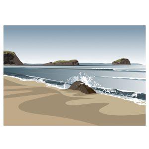 Seacliff Beach to the Bass Rock