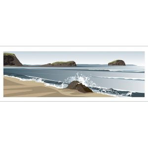 Panoramic. Seacliff Beach to Bass Rock