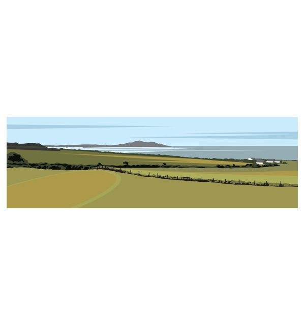 Across the Bay to Holyhead Mountain - Panoramic