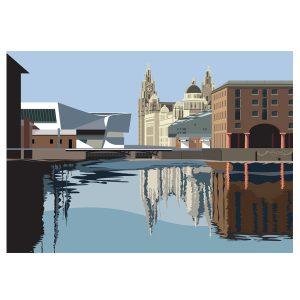 Reflecting on the Albert Dock