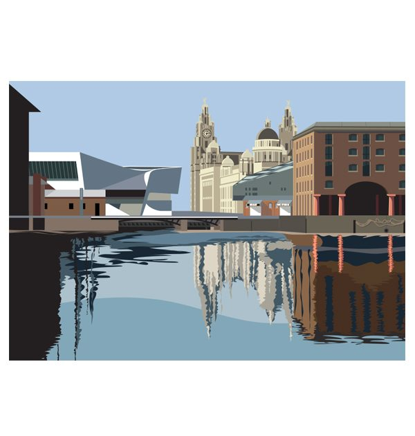 Reflecting on the Albert Dock
